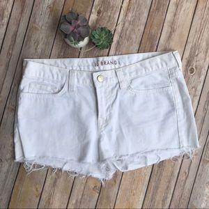J Brand White Denim Cut-off Jean Shorts